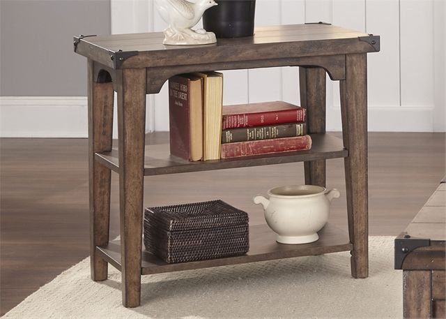 Liberty Furniture Aspen Skies Weathered Brown Chair Side Table-416-OT1021