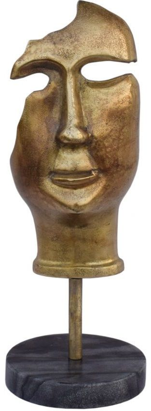 Moe's Home Collections Golden Mask On Stand Statue-FI-1069-53