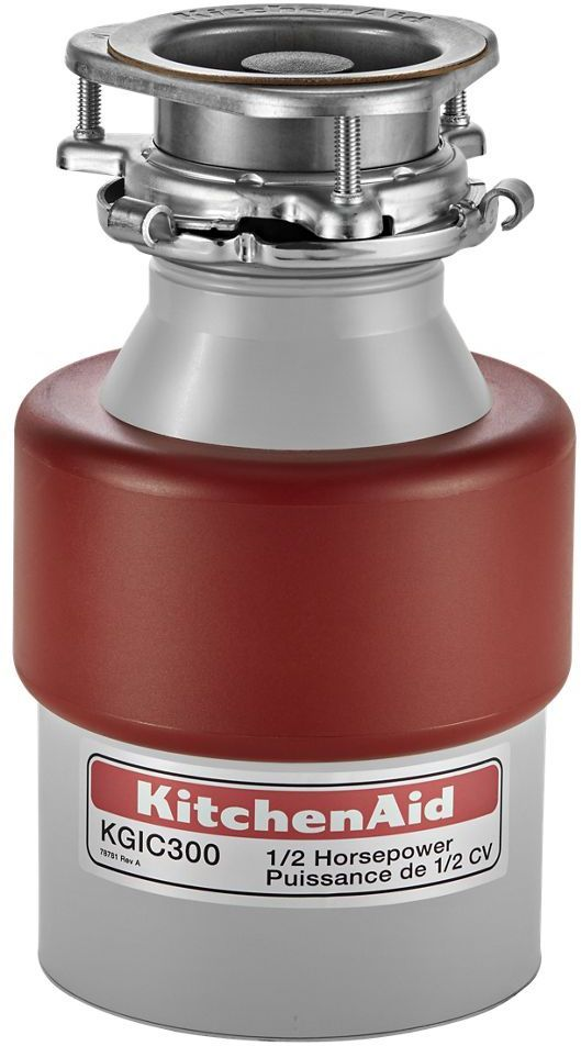KitchenAid® 0.5 HP Continuous Feed Stainless Steel Food Waste Disposer-KGIC300H
