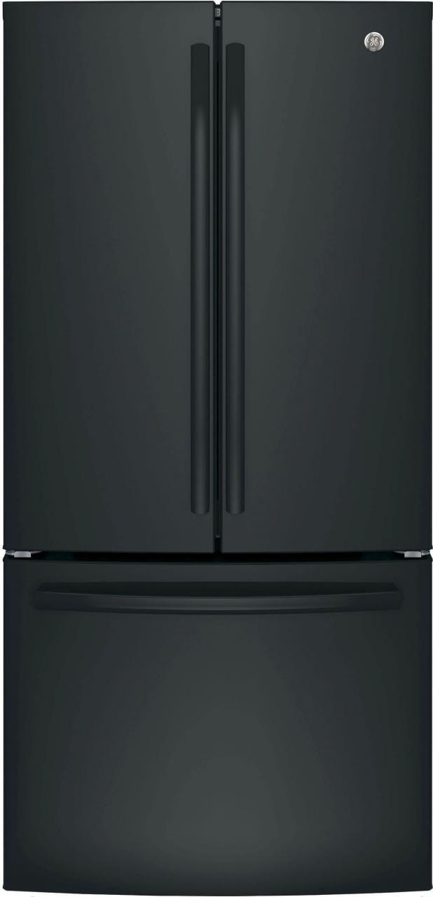 GE® 18.6 Cu. Ft. Counter Depth French Door Refrigerator-Black-GWE19JGLBB