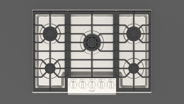 """Fulgor Milano 30"""" Stainless Steel Professional Gas Cooktop-F4PGK305S1"""