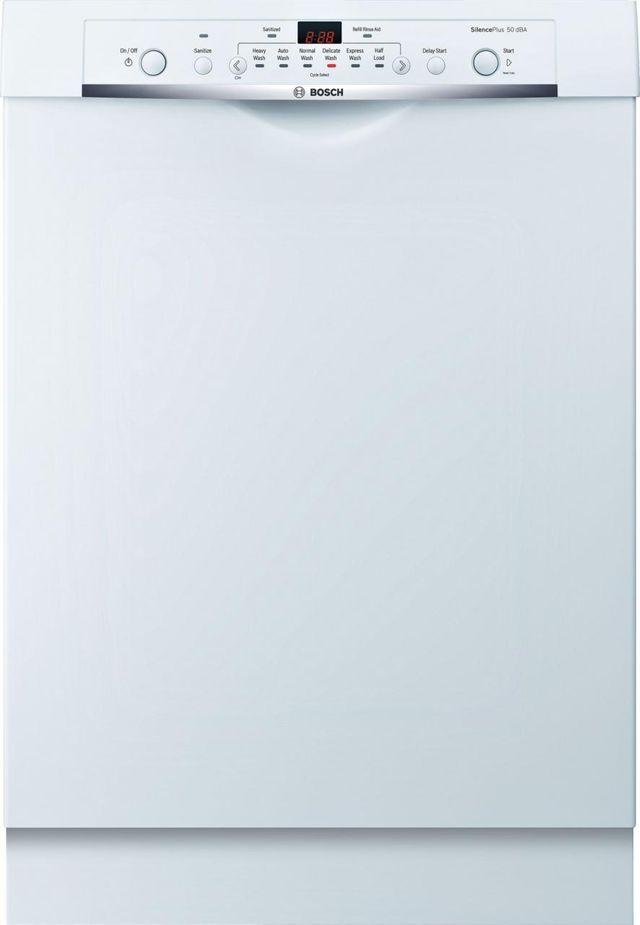 "Bosch Ascenta® Series 24"" Built In Dishwasher-White-SHE3AR72UC"