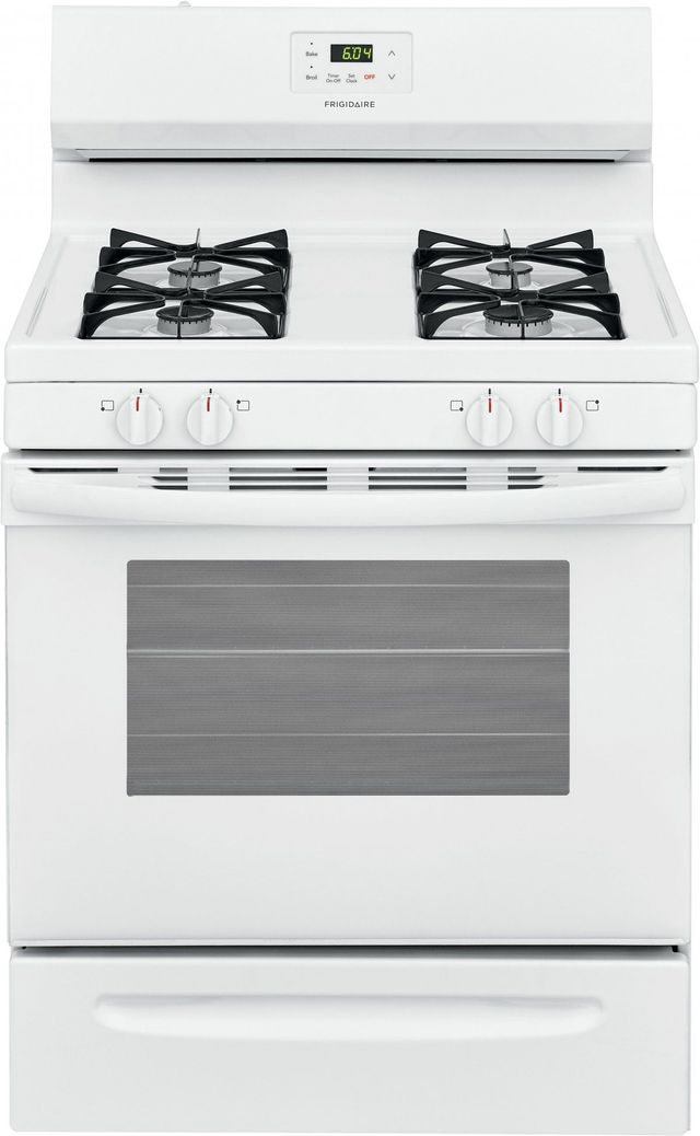 "Frigidaire® 30"" White Free Standing Gas Range-FCRG3015AW"