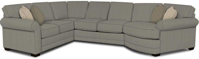 England Furniture Co. Brantley 4 Piece Culpepper Cement/Alvarado Mineral/Urban Walnut Sectional-5630-28-22-43-95+8612+8590+8601