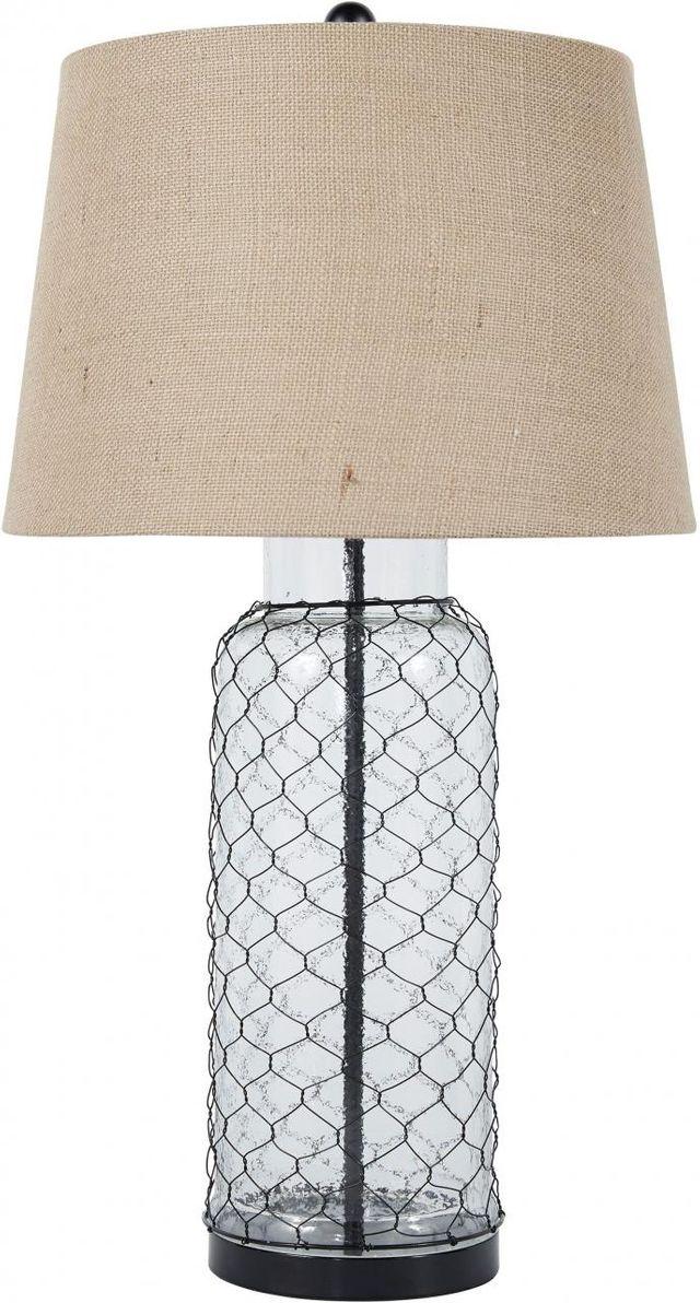 Signature Design by Ashley® Sharmayne Transparent Glass Table Lamp-L430114