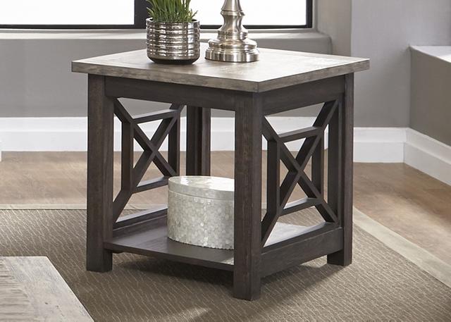 Liberty Furniture Heatherbrook Two-Tone End Table-422-OT1020