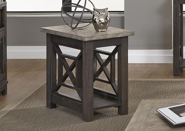 Liberty Furniture Heatherbrook Two-Tone Chair Side Cha ir-422-OT1021