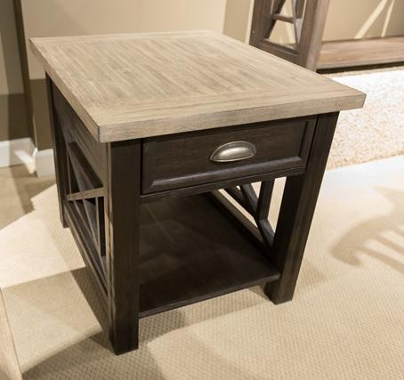 Liberty Furniture Heatherbrook Two-Tone End Table-422-OT1022