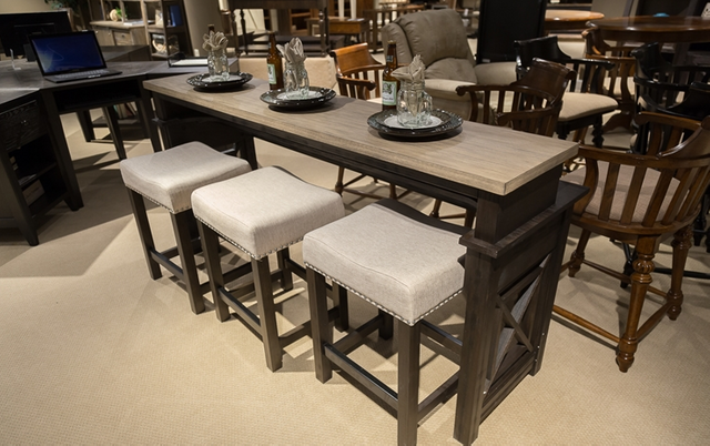 Liberty Furniture Heatherbrook Two-Tone Console Bar Table-422-OT7436