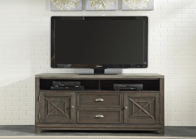 "Liberty Furniture Heatherbrook Two-Tone  66"" TV Stand-422-TV66"