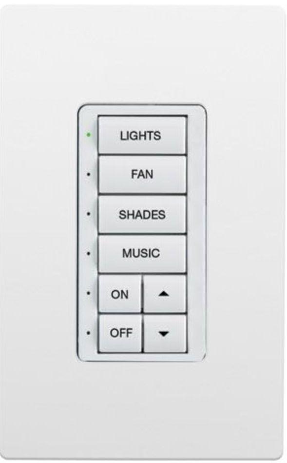 Crestron® Cameo® Express White Smooth infiNet EX® 120V Wireless Keypad-INET-CBDEX-E-W-S