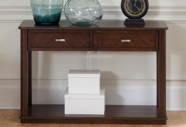 Liberty Furniture Wallace Dark Toffee Sofa Table-424-OT1030