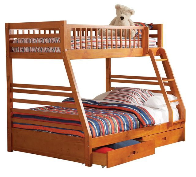 Coaster® Ashton Honey Twin-Over-Full Bunk Bed-460183
