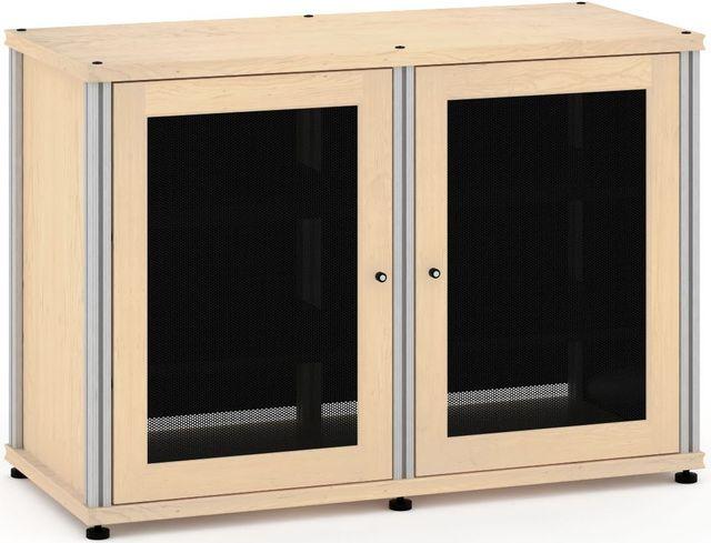 Salamander Designs® Synergy Model 323 AV Cabinet-Natural Maple/Aluminum-SB323M/A