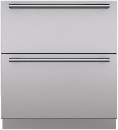 """Sub-Zero® 30"""" Stainless Steel Integrated Drawer Panels with Tubular Handles-7023703"""