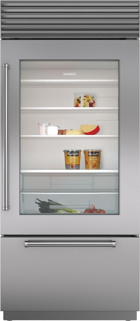 Sub-Zero® 21.6 Cu. Ft. Stainless Steel Built In Bottom Freezer Refrigerator-BI-36UG/S/PH-RH