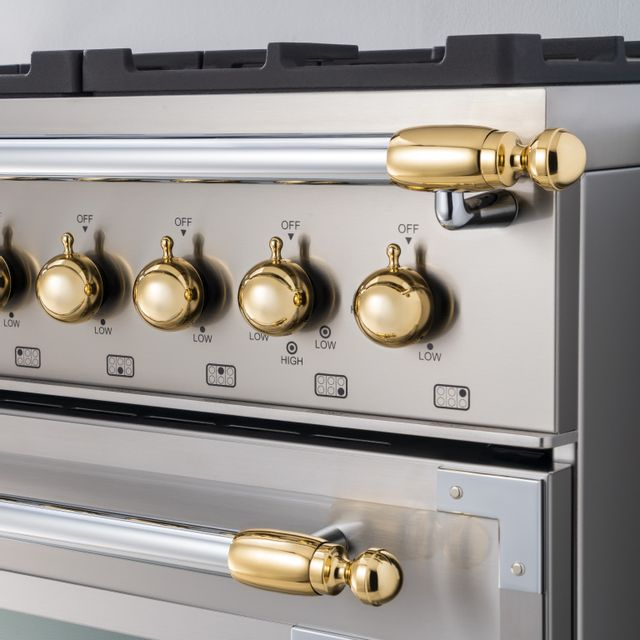 Bertazzoni Collezione Metalli Gold Décor Set-DS1HERTGO