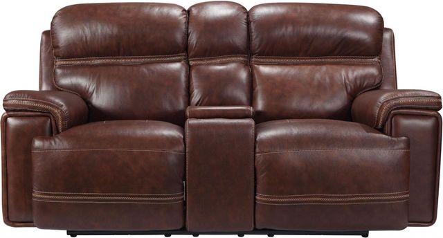 Leather Italia USA™ Shae Fresno Brown Power Reclining Loveseat-1555-EH2394-021004LV