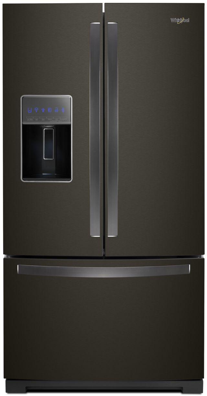 Whirlpool® 26.80 Cu. Ft. French Door Refrigerator-Black Stainless Steel-WRF757SDHV
