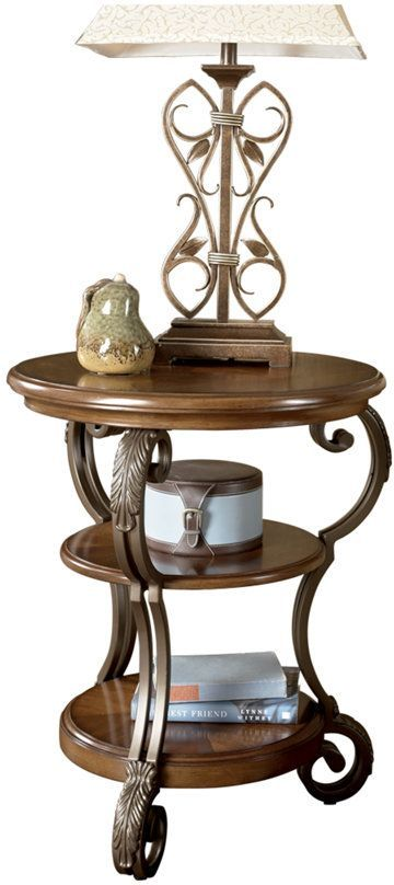 Signature Design by Ashley® Nestor Medium Brown Chair Side End Table-T517-7