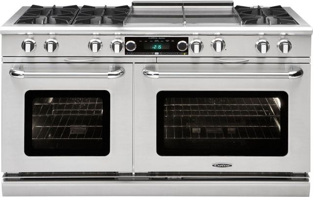 """Capital Connoisseurian 60"""" Stainless Steel Free Standing Dual Fuel Range-COB604GG2N"""