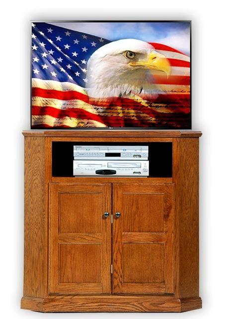 American Heartland Oak Tall Corner TV Stand-43734