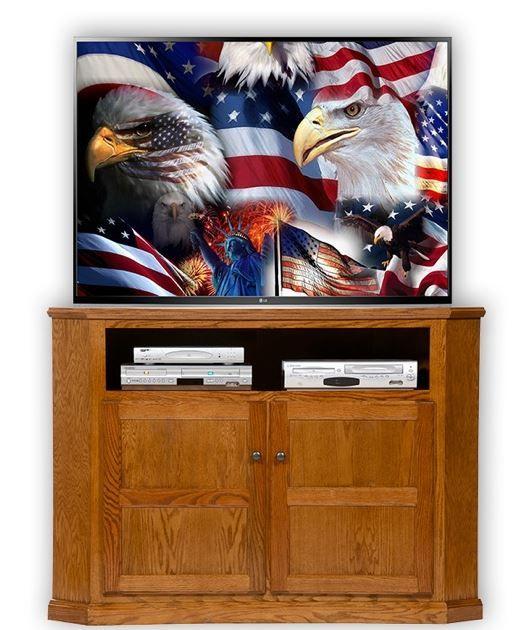 American Heartland Oak Tall Corner TV Stand-43743