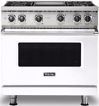 "Viking® Professional 5 Series 36"" Pro Style Gas Range-White-VGR5364GWHLP"