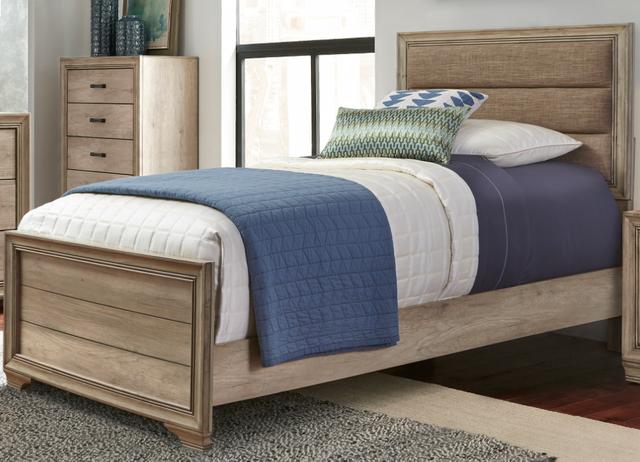 Liberty Furniture Sun Valley Sandstone 3 Piece Upholstered Full Bedroom Set-439-BR-TUBDM