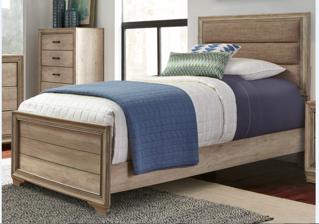 Liberty Furniture Sun Valley Bedroom Twin Upholstered Headboard and Footboard-439-BR11HF