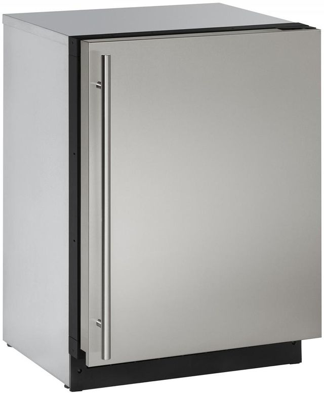 U-Line® 2000 Series 4.9 Cu. Ft. Stainless Steel Under the Counter Refrigerator-2224RS-00B
