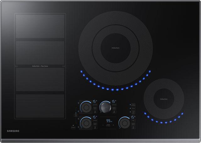 """Samsung 30"""" Induction Cooktop-Fingerprint Resistant Black Stainless Steel-NZ30K7880UG"""