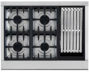 """DCS Professional 36"""" Gas Cooktop-Stainless Steel-CPU-364GL-L"""