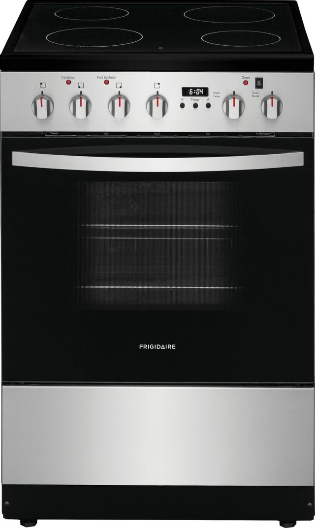 """Frigidaire® 24"""" Stainless Steel Free Standing Electric Range-FCFE2425AS"""