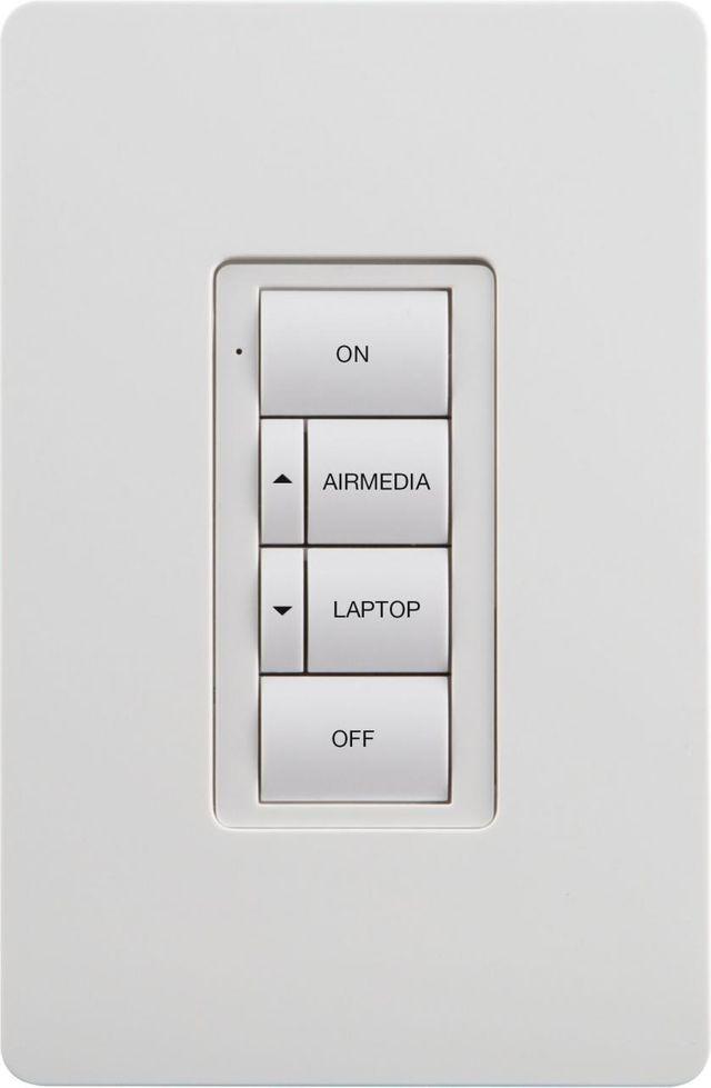 Crestron® Battery-Powered Wireless AV 6-Button Keypad-White-ZUMMESH-KP10AV2BATT-W-S