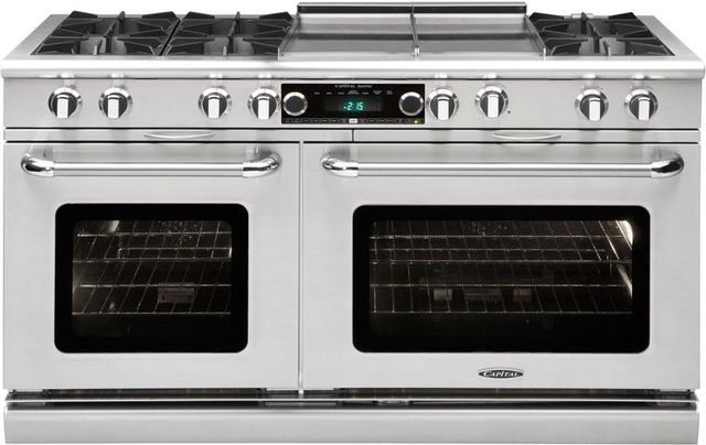 """Capital Connoisseurian 60"""" Stainless Steel Free Standing Dual Fuel Range-COB604GG2L"""