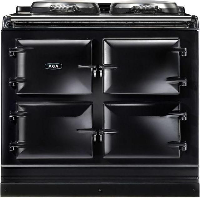 """AGA 39"""" Black Dual Control Natural Gas Range-ADC3G-BLK"""
