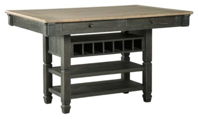 Signature Design by Ashley® Tyler Creek Black/Gray Rectangular Dining Room Counter Table-D736-32