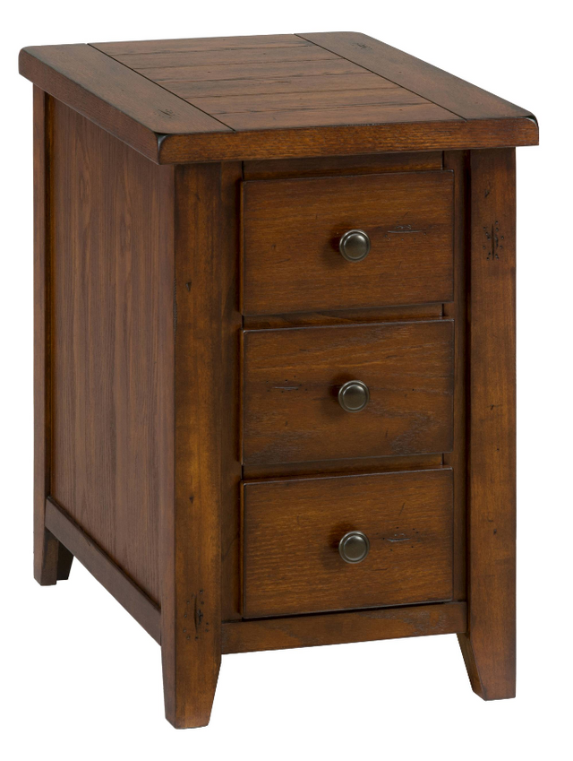 Jofran Inc. Clay County Oak Chairside Table-443-7