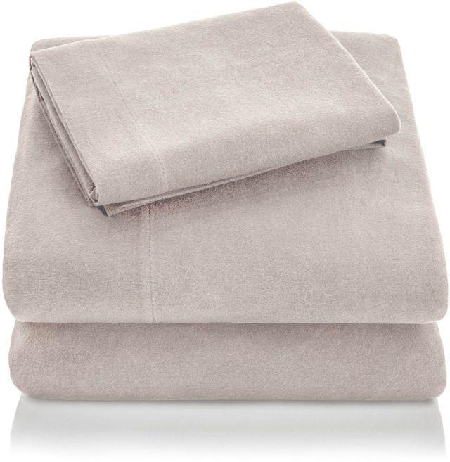 Malouf® Sleep Woven™ Portuguese Flannel Oatmeal Queen Pillowcase-WO20QQOAFC