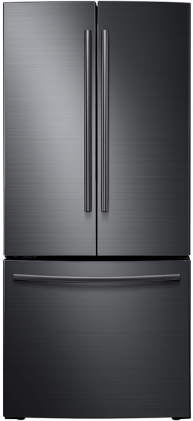 Samsung 22 Cu. Ft. French Door Refrigerator-Fingerprint Resistant Black Stainless Steel-RF220NCTASG