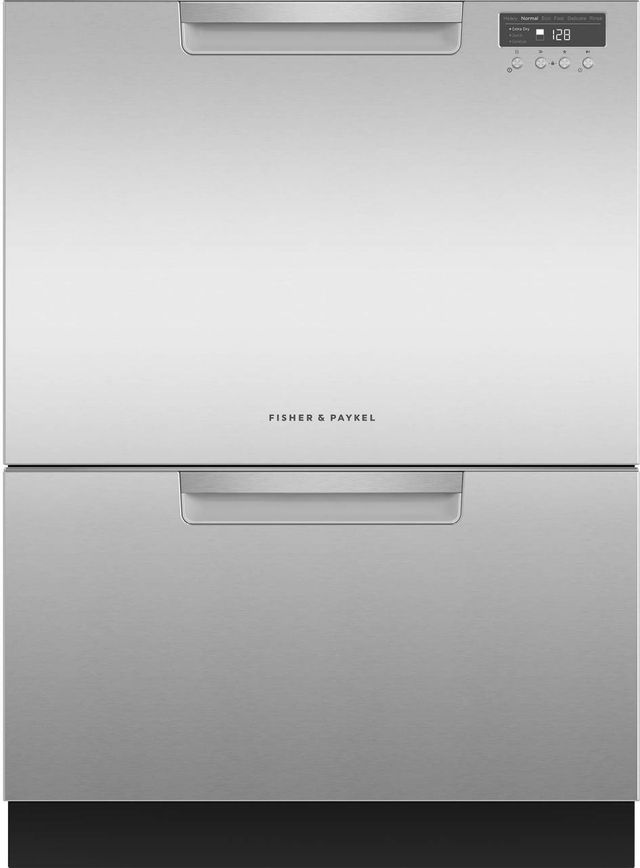 """Fisher & Paykel Series 7 24"""" Stainless Steel Double DishDrawer™Dishwasher-DD24DCHTX9 N"""