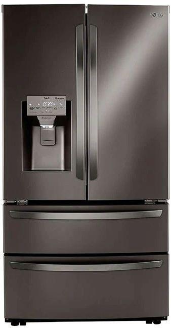 LG 22 Cu. Ft. Black Stainless Steel Counter Depth French Door Refrigerator -LRMXC2206D