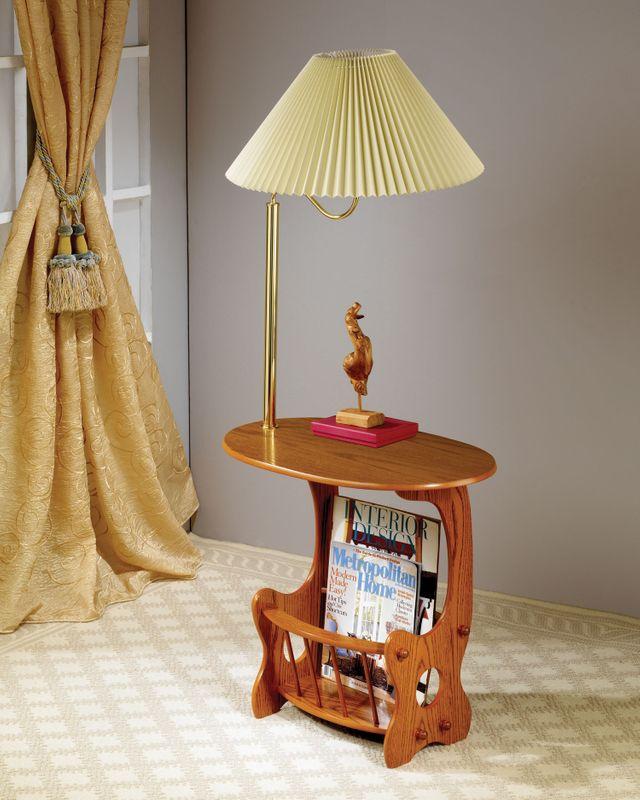 Coaster® Magazine Storage Lamp Table-4501