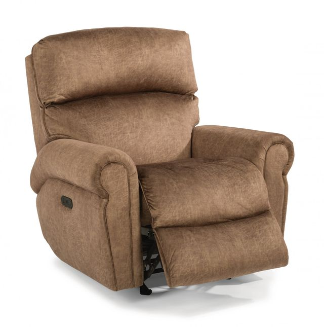 Flexsteel® Langston Fabric Power Recliner with Power Headrest-4504-50H