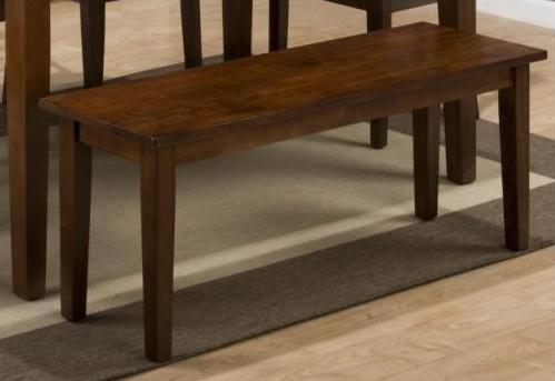 Jofran Inc. Simplicity Medium Brown Wooden Bench-452-14KD
