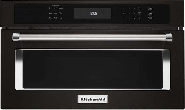 """KitchenAid® 26.75"""" Black Stainless Steel with PrintShield™ Finish Built In Microwave Oven-KMBP107EBS"""