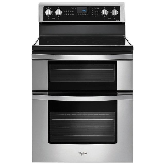 Whirlpool®  6.7 Cu. Ft Stainless Steel Free Standing Electric Range-YWGE745C0FS