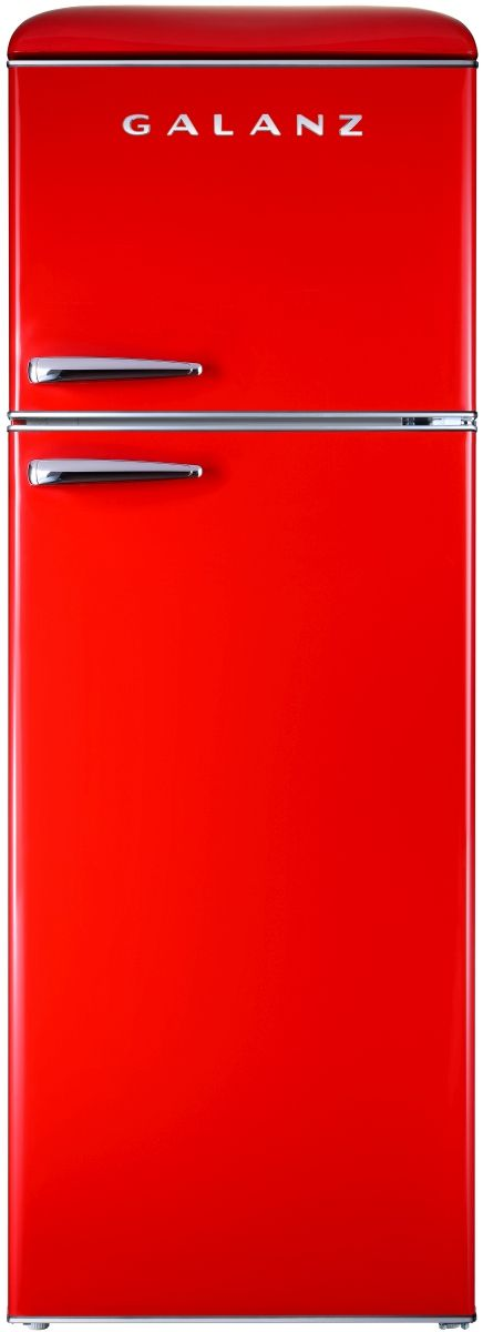 Galanz 12 Cu. Ft. Hot Rod Red Retro Top Mount Refrigerator-GLR12TRDEFR