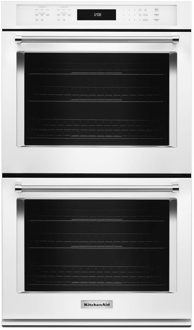 """KitchenAid® 27"""" White Electric Double Oven Built In-KODE507EWH"""